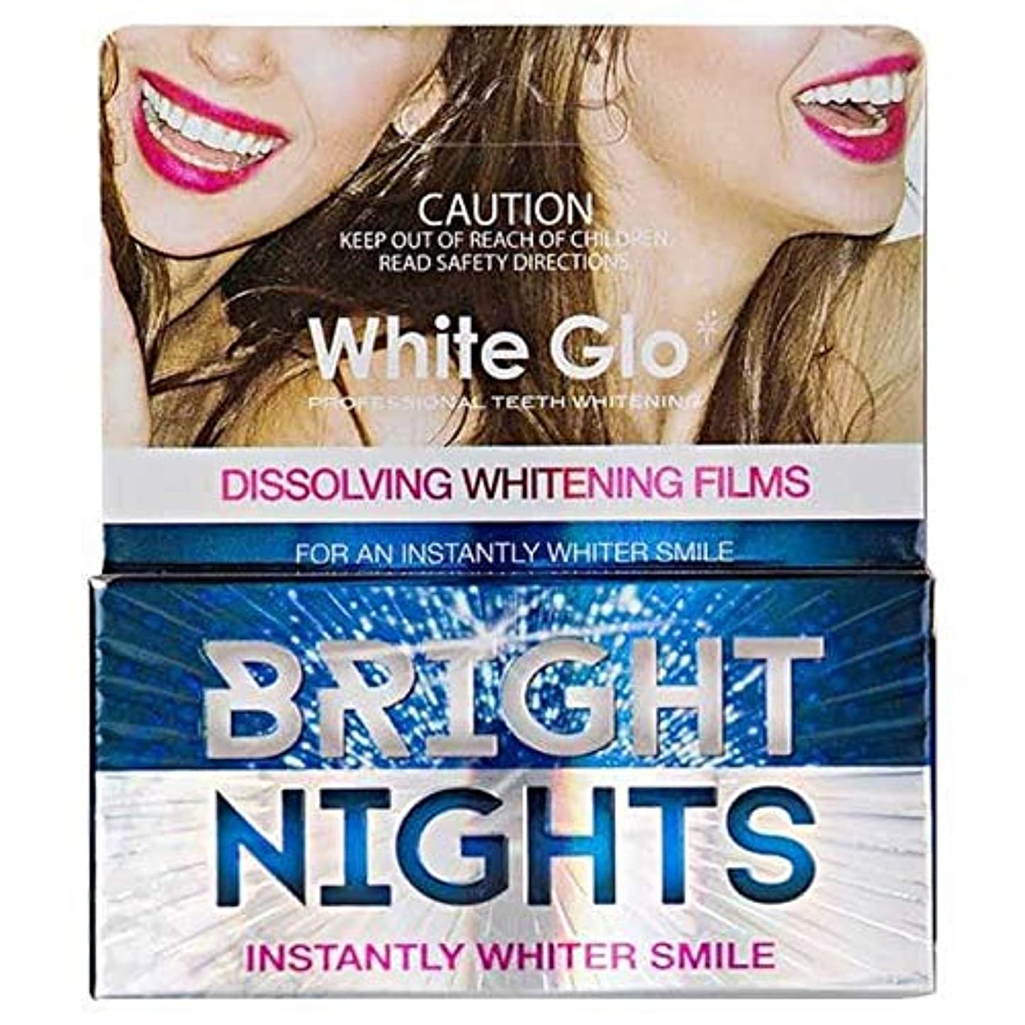 ニュース援助するタブレット[White Glo] 白色Glo明るい夜白色フィルム(非過酸化物) - White Glo Bright Nights White Films (Non-Peroxide) [並行輸入品]