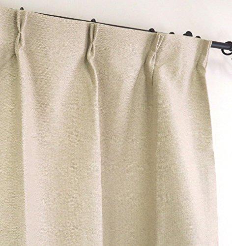 1級遮光カーテン 巾100cm×丈110cm2枚 ナチュラルベージュ CORUTOnbe110