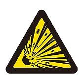 緑十字 PL警告表示ラベル PL-3 爆発物 (破裂) (大) 201003 (10枚1組)