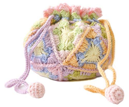 リッチモア 編み物キット パーセント ミニ 1/100 クロッシェキット 三角モチーフのポーチ H620-032