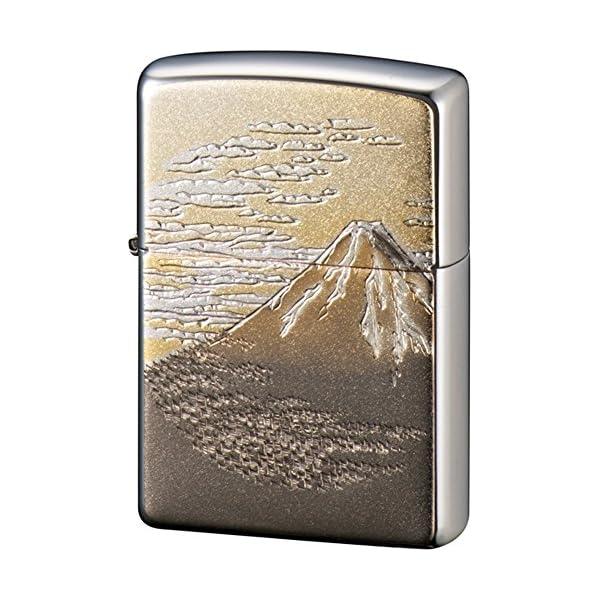ZIPPO ライター 電鋳板 富士 シルバーの商品画像