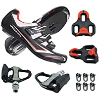Venzo Road Bike for Shimano SPD SL Look Cycling Bicycle Shoes with Pedals