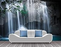 Mbwlkj 自然風景壁紙滝写真壁紙壁画リビングルーム3D自己接着壁紙-450cmx300cm