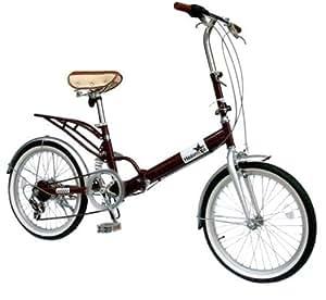 TRAILER(トレイラー) 20インチ折畳み自転車 リアサスペンション シマノ6段変速付 ヘブンズ ブラウン BF-S620-BR