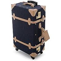 LOWYA (ロウヤ) スーツケース トランクケース TSAロック メッシュポケット 2箇所取っ手 デニム生地 360度回転 1~3泊 37L Mサイズ デニム おしゃれ 新生活