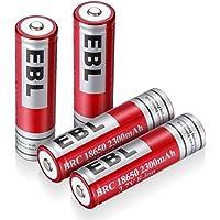EBL 18650リチウム充電式電池 Li-ion 2300mAh 4個パック 繰り返し充電 低自己放電 基本的な保護搭載 ケース付き