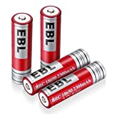 Best 購入プロモーション - EBL 18650リチウム充電式電池 Li-ion 2300mAh 4個パック 繰り返し充電 低自己放電 基本的な保護搭載 Review