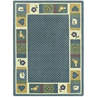 Joy Carpets Kid Essentials Infants & Toddlers Seeing Spots Rug Soft 7'8 x 10'9 [並行輸入品]