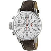 "Invicta Men's 2771""Force Collection"" Stainless Steel Left-Handed Watch with Brown Leather Band"
