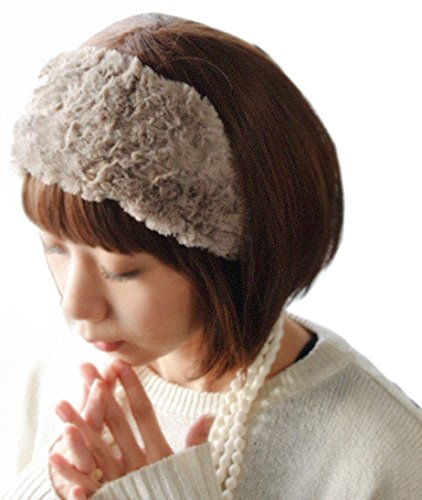 [And IT] and it_ Fuwamoko fur turban hair band hair accessories
