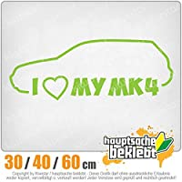 KIWISTAR - I Love my MK4 15色 - ネオン+クロム! ステッカービニールオートバイ