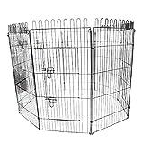 ペットサークル 8面サークル 高さ120cm ペットケージ ペットフェンス ケージ ゲージ サークル トレーニングサークル 犬用ケージ 中型犬用 大型犬用 屋内用 屋外用 室内用 犬小屋 犬 ペット ペット用品