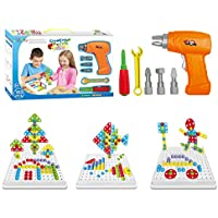 Educational Design and Drill toy Building toys set - 193 Pcs with board game STEM Learning Construction creative playset for 3, 4, 5+ Year Old Boys & Girls Best Toy Gift for Kids Ages 3yr - 6yr & up