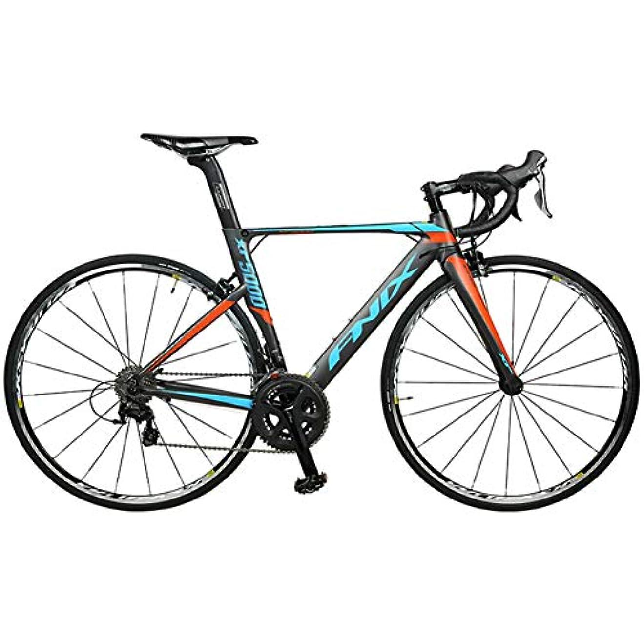 夢中悲観的アルファベット順ロードバイク、22スピード軽量アルミニウムロード自転車、成人男性女性レーシング自転車、カーボンファイバーフォーク、シティコミューター自転車,グレー,470