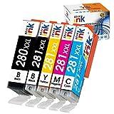 Starink 互換インクカートリッジ PGI-280XXL CLI-281XXL 対応機種: PIXMA TS6120 TR7520 TR8520 TS9520 TS9521c TS8120 TS9120 TS6220 TS8220 (1PGBK 1 ブラック 1 シアン 1 マゼンタ 1 イエロー) 5個パック