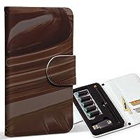 スマコレ ploom TECH プルームテック 専用 レザーケース 手帳型 タバコ ケース カバー 合皮 ケース カバー 収納 プルームケース デザイン 革 ラブリー チョコレート ハート 000815