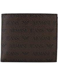 (アルマーニ?ジーンズ) ARMANI JEANS 二つ折財布 ?小銭入れ付き  938540 CC996 PVC(ポリ塩化ビニル)  ダークブラウン [並行輸入品]