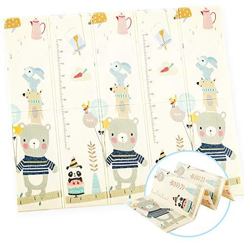 Semy Kids 折畳み式ベビープレーマット 衝撃緩和 (XL)198×178×1cm 新乳児から対象 ベビーマット
