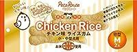 (まとめ買い)ペッツルート チキン味 ライスガム 小型犬・中型犬用 骨型 M 2本 犬用おやつ 【×6】
