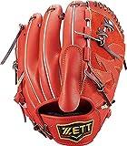 ゼット(ZETT) 軟式野球 グラブ(グローブ) プロステイタス ピッチャー用 右投げ用 ディープオレンジ×ブラウン(5837) サイズ:4 BRGB30111