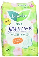 Kao Laurier Speed+ HADA-KIREI for Moderate Days WITH WINGS - 22 pads