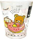 ティーズファクトリー リラックマカラークリスタルカップ リラックマドーナツ H9.2×Φ8cm RK-5526295DO