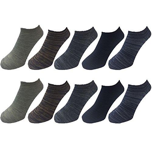 靴下 メンズ ショートソックス シンプル くるぶしソックス アンクルソックス 10足組 25㎝-27㎝ 5色カラー10足 Bセット