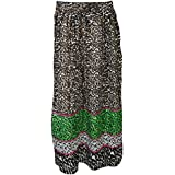 Brooke Womens Maxi Long Skirt Printed Vintage Gypsy Hippie Resort Summer Skirts S