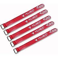 iFlight RC Lipoバッテリータイダウンゴム引きストラップノンスリップ20 x 200 mm for FPVレーシングドローンクアッドコプターレッド( Pack of 5点)