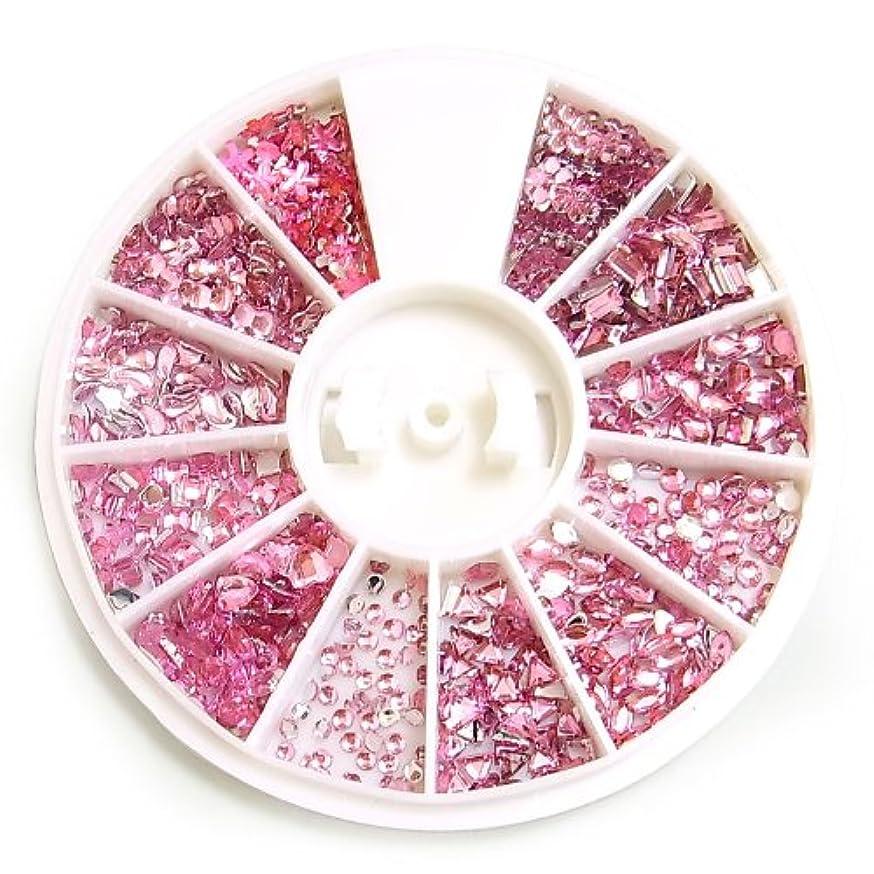アクリルラインストーン12種セット【ピンク】