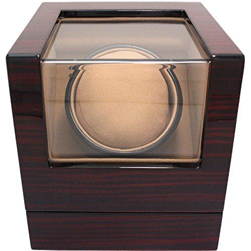 [해외][이기미] IGIMI 와인 1 개에 마부 치 모터 사용 워찌 와인 갈색 줄무늬 우드 (브라운) IG-ZERO 102A-5/[Ugimi] IGIMI For one winding machine Mabuchi motor use Watch winder Tea stripes wood grain (brown) IG - ZERO 102 A - 5