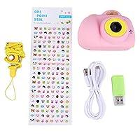 子供用カメラ デジタルスポーツ用 充電式 ビデオカメラ ミニカメラ 800 W HD(ピンク)