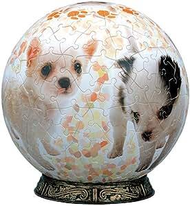 3D球体パズル 240ピース なかよしチワワ (直径約15.2cm)