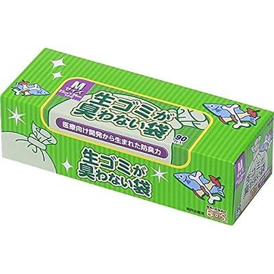 驚異の防臭袋 BOS (ボス) 生ゴミが臭わない袋 Mサイズ 90枚入 生ゴミ処理袋【袋カラー:白】