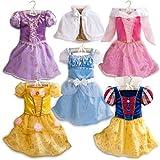 新作 ディズニープリンセス Disney Princess Costume Set 2013 子供 キッズ 衣装 コスチューム 5点セット ラプンツェル シンデレラ ベル 白雪姫 オーロラ 120 130 Mサイズ 6-8歳