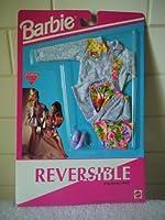 バービーReversible Fashions–Jean Jacket andスカートwith Floralトリム、花柄トップ( 1992)