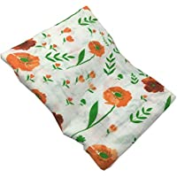 HGHG muslin Swaddle Blankets Large Silky Soft 70% Bamboo Fiber 30% Cotton47x47 inches (Flower) [並行輸入品]