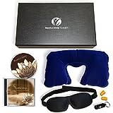 Premium Restful Sleep System - Sleep Mask, Guided Meditation CD, Neck Pillow, Earplugs, Gift Box, Satisfaction Guaranteed