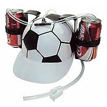 古いバーガーSoda Colaビール帽子キャップDrinkingヘルメットwithストローforパーティーゲーム( Soccer Football )