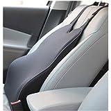 clara lapis シートクッション 背当てクッション ランバーサポート 低反発クッション 低反発 クッション いす用 車 車用 ドライブクッション カバー取り外し可 ブラック