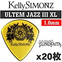【20枚セット】Kelly SIMONZ(ケリーサイモン) オリジナルピック KSJZ1-100 ウルテム JAZZ III XL 1.0mm Kelly SIMONZ's BLIND FAITH ロゴ