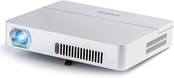 iCODIS RD-813 プロジェクター 小型 3000ルーメン ネイティブHD解像度 10000:1のコントラスト比 10000mAhバッテリー内蔵 ポータブルピコプロジェクター