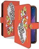 ARROWS NX F-06E ケース 手帳型 マーブルチョコ 橙 お菓子 チョコ柄 スマホケース アローズエヌエックス アロウズ 手帳 カバー ARROWSNX f06e f06eケース f06eカバー チョコレート チョコ お菓子 チョコ柄 [マーブルチョコ 橙/t0092c]