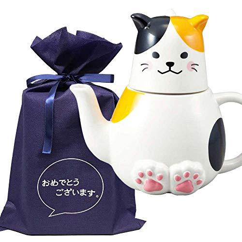 【おめでとうございますギフトL】 ティーフォーワン 三毛猫【L】