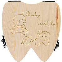 Doitsa 可愛い乳歯ケース 胎児の髪 木製 成長記録 お生産祝いプレゼント 良い願いの贈り物 子供 人生で重要な乳歯入れボックス 歯や産毛を保存する 赤ちゃん用 乳歯な形状 男女 英語