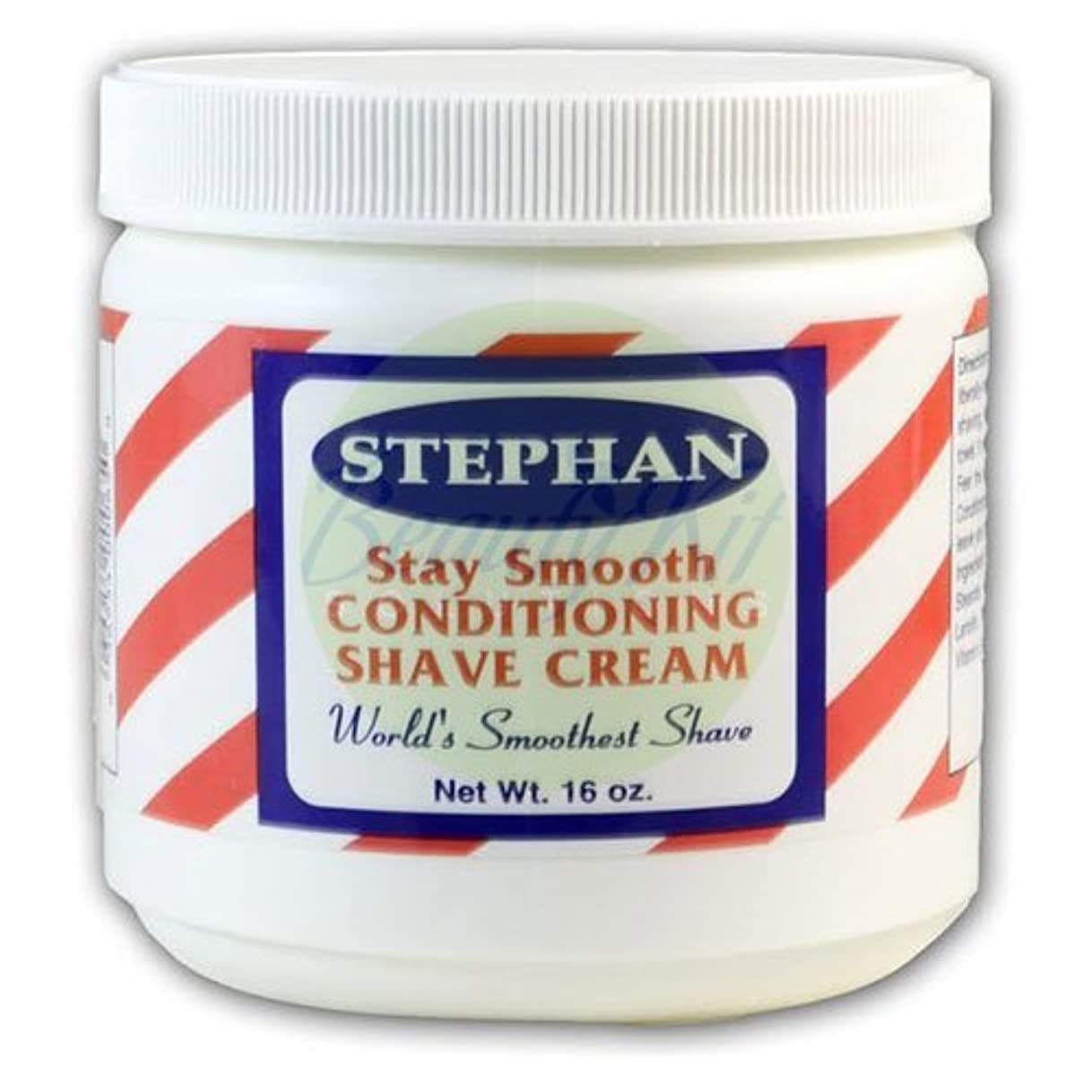 パウダー量で不要Stephans Stay Smooth Conditioning Shave Cream [16 oz.] [並行輸入品]