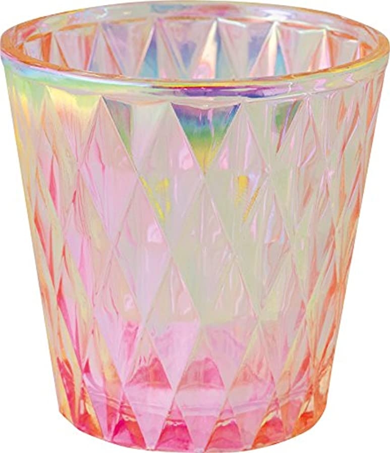 鳥実業家シエスタカメヤマキャンドルハウス オーロラダイヤグラス キャンドルフォルダー ピンク