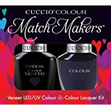 Cuccio MatchMakers Veneer & Lacquer - On the Nile Blue - 0.43oz / 13ml Each