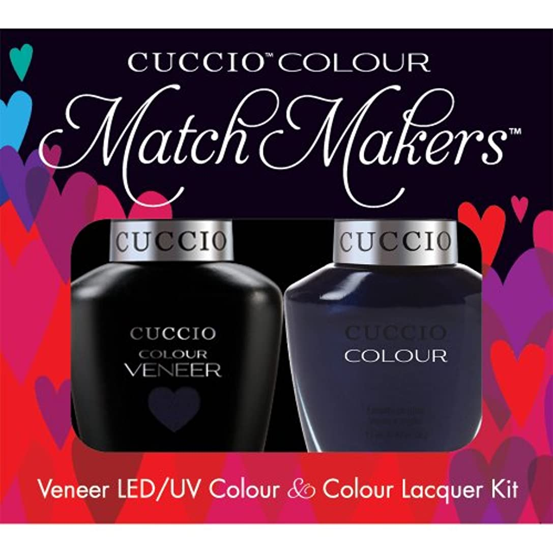 見捨てる靴下ランプCuccio MatchMakers Veneer & Lacquer - On the Nile Blue - 0.43oz / 13ml Each