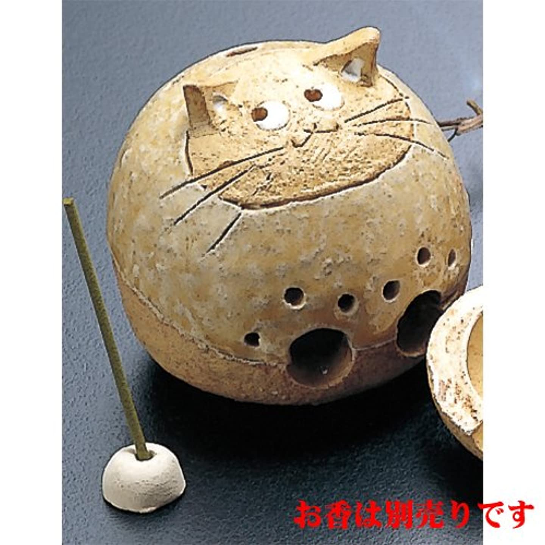成分ばかげた考える香炉 丸猫 香炉(中) [H9cm] HANDMADE プレゼント ギフト 和食器 かわいい インテリア